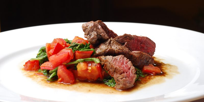 Tuscan Beef with Tomato and Arugula