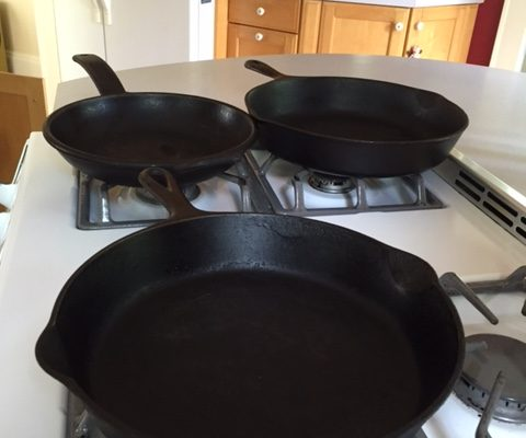 Cast Iron- the original non stick pan