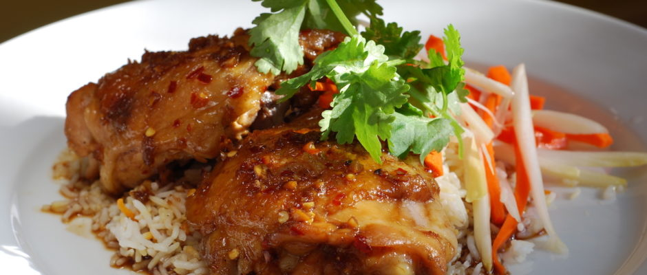 Sweet and Spicy Sticky Chicken
