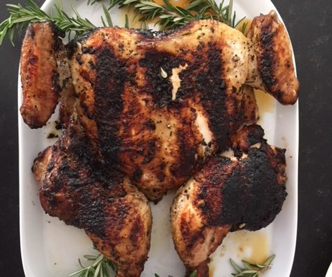 Easy and Delicious Grilled Butterflied Chicken ( Chicken Al Mattone)