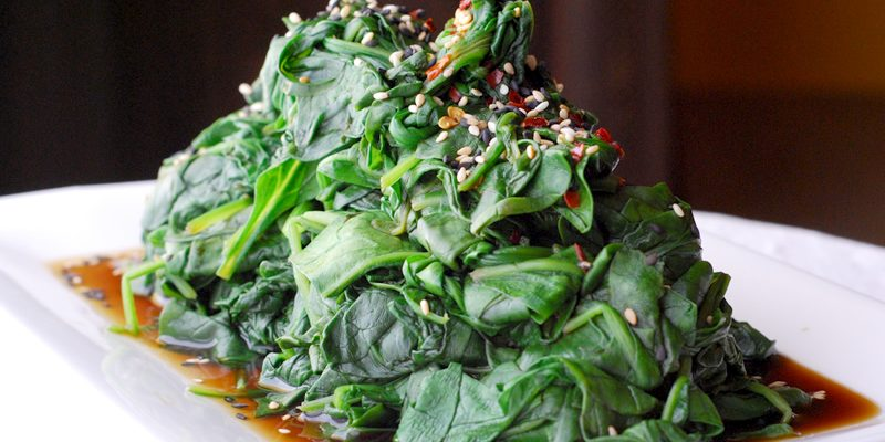 Asian Spinach with Ginger and Garlic