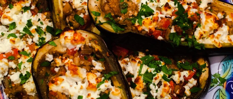 Stuffed Eggplant - Vegetarian